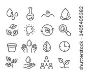 human and nature concept icons... | Shutterstock .eps vector #1405405382