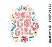 inspirational girl power hand...   Shutterstock .eps vector #1405406162