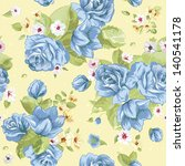 flowers texture seamless roses... | Shutterstock .eps vector #140541178