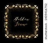 golden glittering frame with... | Shutterstock .eps vector #1405416752