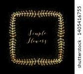 golden glittering frame with... | Shutterstock .eps vector #1405416755