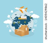 global logistic  shipping and... | Shutterstock .eps vector #1405429862