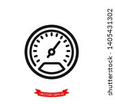 speedometer vector icon in... | Shutterstock .eps vector #1405431302