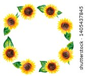 round bright summer frame with... | Shutterstock . vector #1405437845