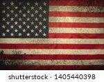 American Flag Grunge Backgroun...