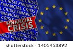 european union and financial... | Shutterstock . vector #1405453892