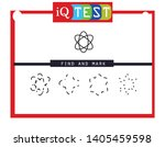 iq test   practical questions.... | Shutterstock .eps vector #1405459598