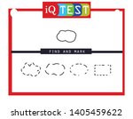 iq test   practical questions.... | Shutterstock .eps vector #1405459622