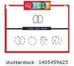 iq test   practical questions.... | Shutterstock .eps vector #1405459625
