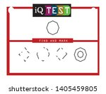 iq test   practical questions.... | Shutterstock .eps vector #1405459805