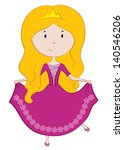 illustration of a princess | Shutterstock .eps vector #140546206