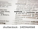 Small photo of Word or phrase solicit in a dictionary.
