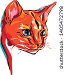 illustrators cat  art vector ... | Shutterstock .eps vector #1405472798