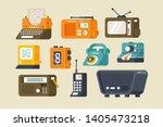 various technics set vector... | Shutterstock .eps vector #1405473218