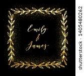 golden glittering frame with... | Shutterstock .eps vector #1405480262