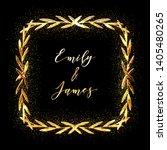 golden glittering frame with... | Shutterstock .eps vector #1405480265