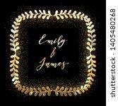 golden glittering frame with... | Shutterstock .eps vector #1405480268