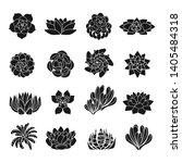 succulent desert flowers icons... | Shutterstock .eps vector #1405484318