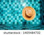 vintage wicker hat fashion for... | Shutterstock . vector #1405484732