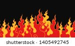 the fire. flame tongues on a... | Shutterstock .eps vector #1405492745