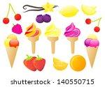fruit ice creams colorful... | Shutterstock . vector #140550715