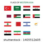 western asia nation flag icon... | Shutterstock .eps vector #1405512605