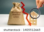 bag with the money and the word ... | Shutterstock . vector #1405512665