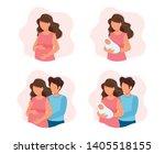 pregnancy and parenthood...   Shutterstock . vector #1405518155
