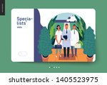 medical insurance  specialists... | Shutterstock .eps vector #1405523975