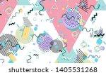 memphis pattern. geometric... | Shutterstock .eps vector #1405531268