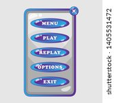 banner game menu for mobile...