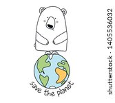 save the planet   funny vector... | Shutterstock .eps vector #1405536032