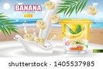 banana yogurt vector realistic...   Shutterstock .eps vector #1405537985