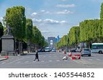 paris  france   may 16  2019  ... | Shutterstock . vector #1405544852