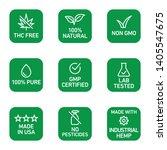 cbd oil icons set including thc ...   Shutterstock .eps vector #1405547675