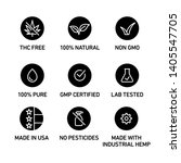 cbd oil icons set including thc ...   Shutterstock .eps vector #1405547705
