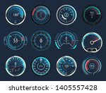 set of isolated car or moto ... | Shutterstock .eps vector #1405557428