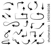 black arrows. filigree icons.... | Shutterstock .eps vector #1405568108
