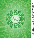 electrocardiogram icon inside... | Shutterstock .eps vector #1405570022