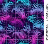 seamless pattern with palm...   Shutterstock .eps vector #1405572098