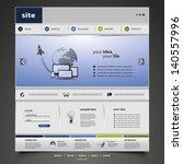 website template | Shutterstock .eps vector #140557996