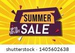summer sale template banner. ... | Shutterstock .eps vector #1405602638