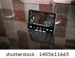 Household smart meter on a...