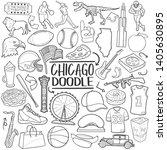 chicago illinois travel....   Shutterstock .eps vector #1405630895