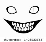 smiling face with sharp teeth | Shutterstock .eps vector #1405633865
