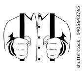 hands hold the lattice vector... | Shutterstock .eps vector #1405643765