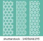 vector set of line borders with ... | Shutterstock .eps vector #1405646195