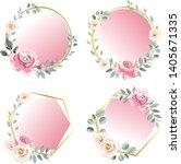 floral invitation frame... | Shutterstock .eps vector #1405671335