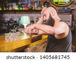 alcohol addicted concept.... | Shutterstock . vector #1405681745