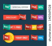 collection of sale discount... | Shutterstock .eps vector #140569528